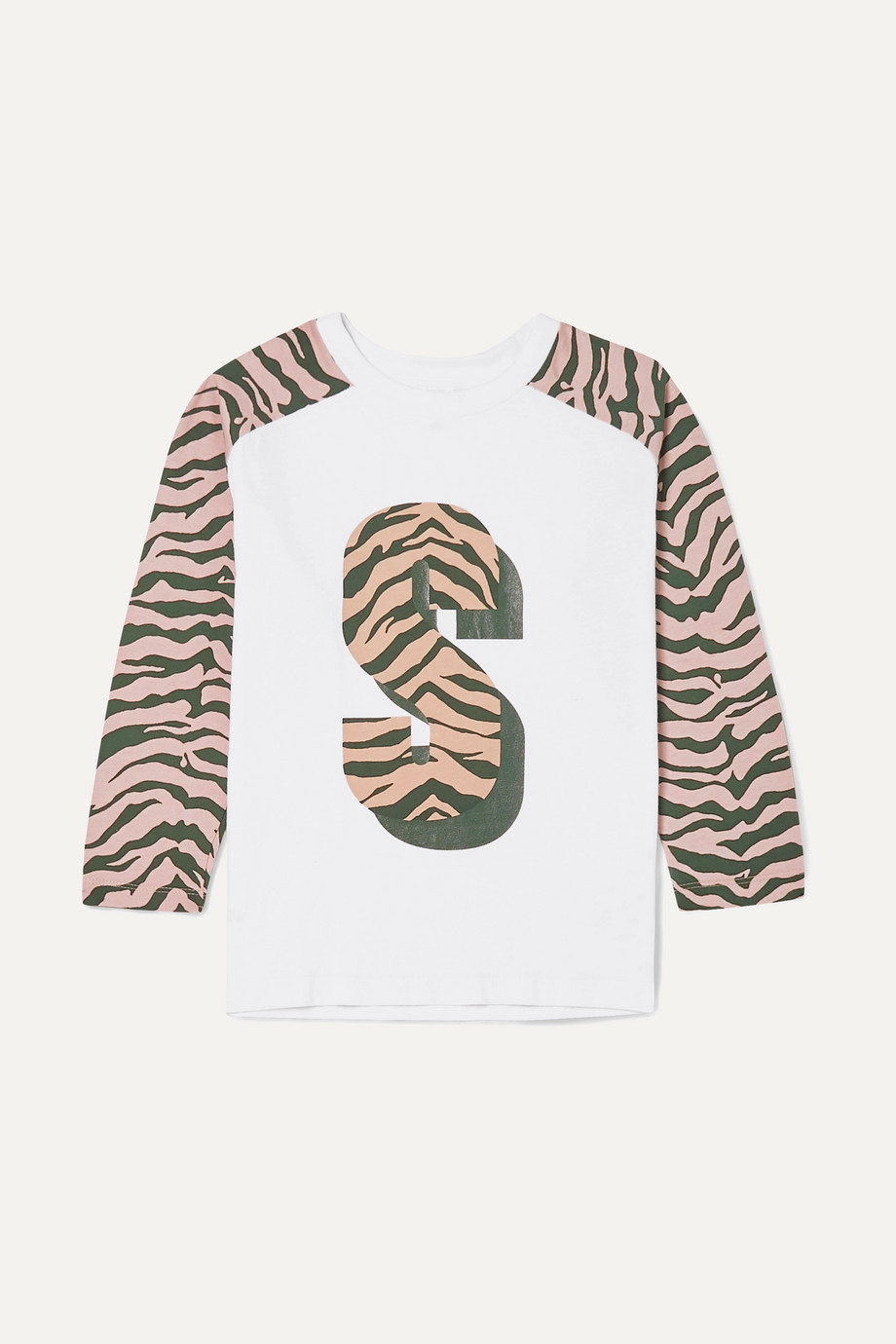 Stella McCartney Kids Zebra-print organic cotton-jersey T-shirt