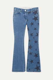 Printed flared jeans