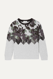 Camouflage-print organic cotton-fleece sweatshirt