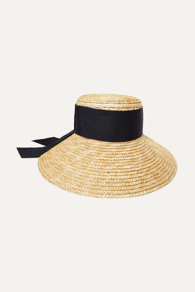 EUGENIA KIM | Eugenia Kim - Annabelle Grosgrain-Trimmed Straw Hat - Beige | Goxip