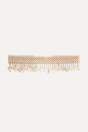 Rosantica Idra gold-tone, bead and shell belt