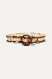 Rosantica Mamba beaded woven straw belt