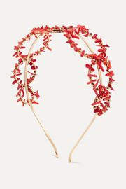 Rosantica Acqua gold-tone and resin headband