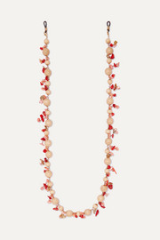 Rosantica Deserto beaded gold-tone sunglasses chain