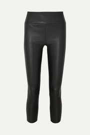 SPRWMN Cropped leather leggings