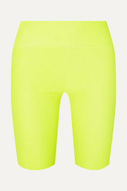 SPRWMN Neon leather shorts