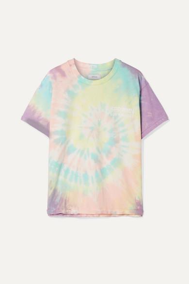 d114a742 SPRWMN | Oversized printed tie-dyed cotton-jersey T-shirt | NET-A-PORTER.COM