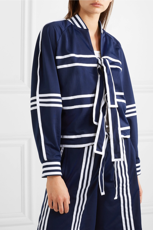 adidas Originals + Ji Won Choi striped satin-jersey track jacket