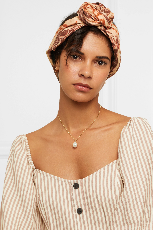 Cult Gaia Turband printed linen headband