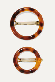 Cult Gaia Ria set of two tortoiseshell acrylic hairclips
