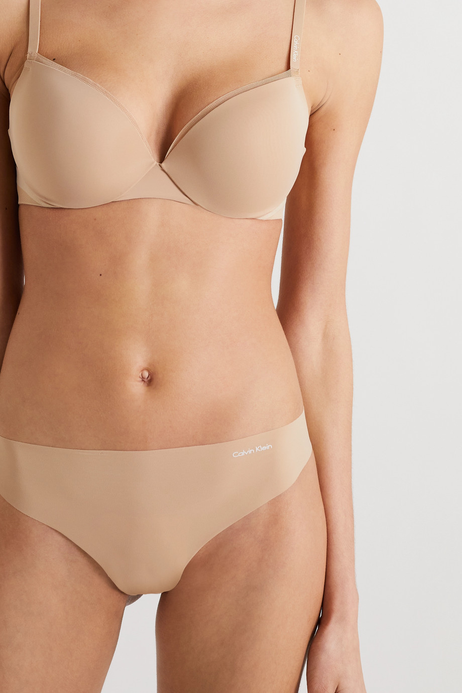 Calvin Klein Underwear Invisibles set of two stretch-jersey thongs