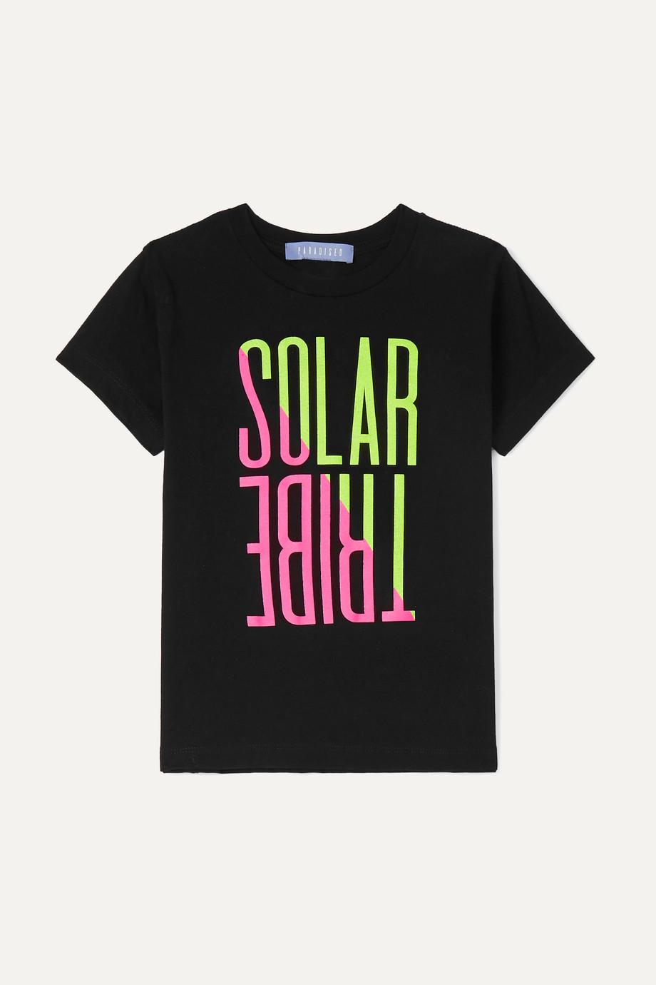 Paradised Kids T-Shirt aus Baumwoll-Jersey mit neonfarbenem Print