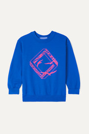 Neon printed cotton-blend jersey sweatshirt