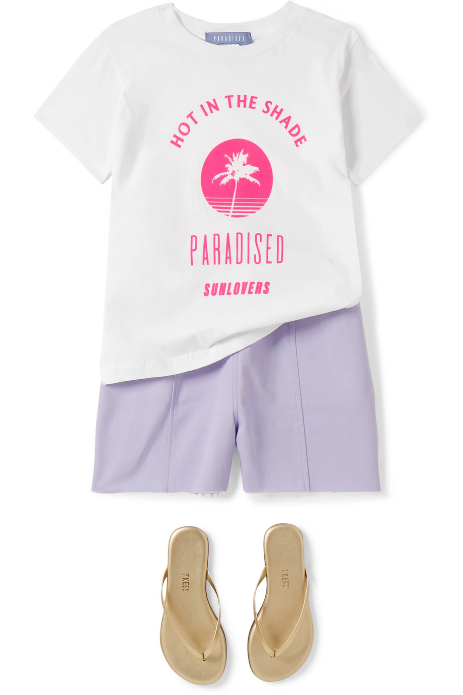 Paradised Kids Neon printed cotton-jersey T-shirt