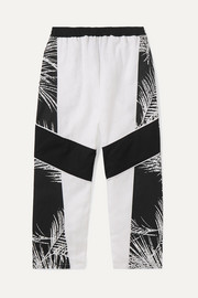 Jaffer printed cotton-canvas track pants