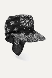 Printed cotton-poplin visor