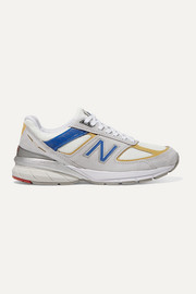 990v5 suede, mesh and faux leather sneakers