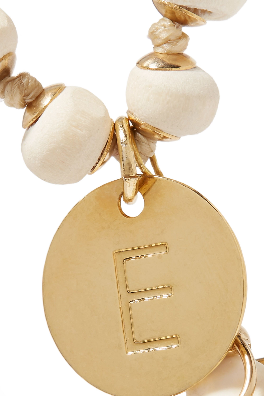 Rosantica Alphabet gold-tone and shell beaded bracelet