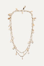 Rosantica Gold-tone, bead and shell necklace