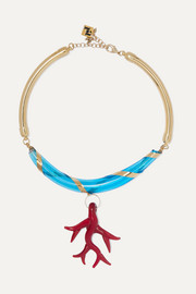 Rosantica Bolle gold-tone glass necklace