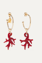 Rosantica Isola gold-tone and resin earrings