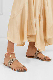 Rosantica Gold-tone shell anklet