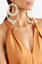Rosantica Gold-tone bead and shell earrings