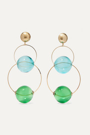 Rosantica Bolle glass and gold-tone clip earrings