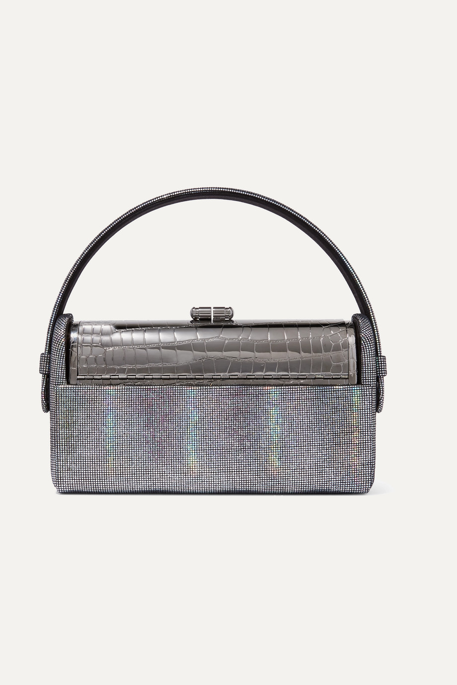 Bienen-Davis Régine iridescent leather and silver-dipped tote