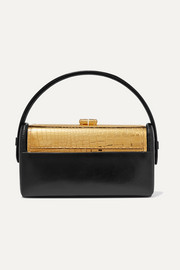 Bienen-Davis Régine textured-leather and gold-dipped tote
