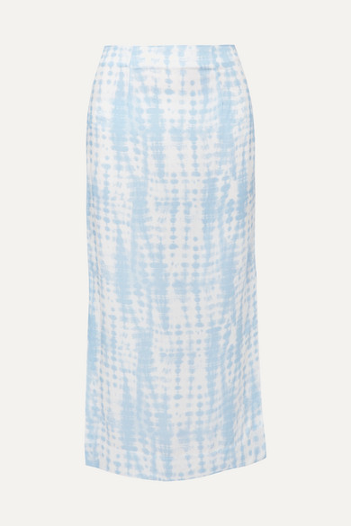 Staud Skirts Penny tie-dye jersey midi skirt