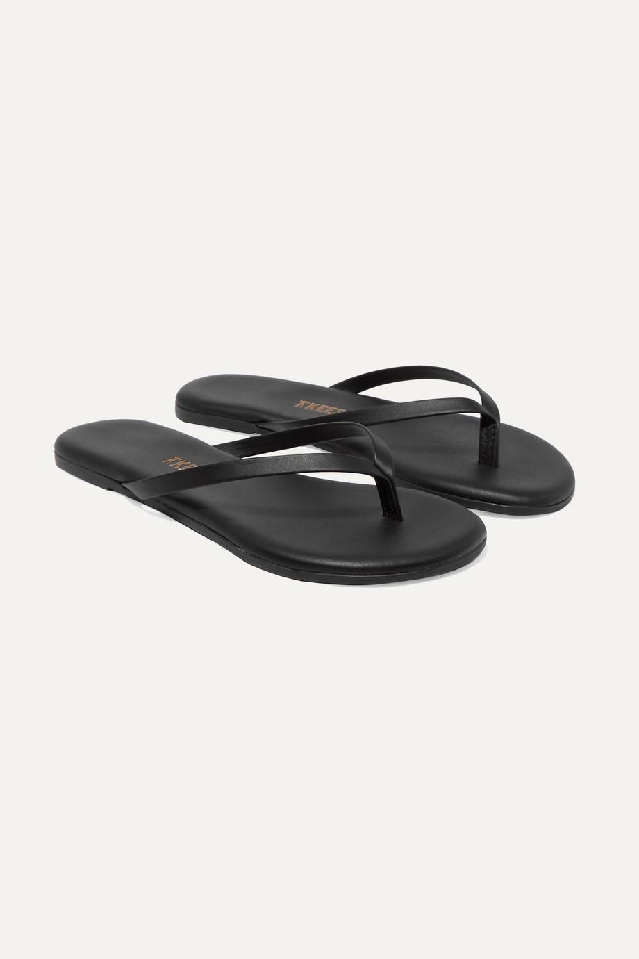 TKEES Kids Leather flip flops