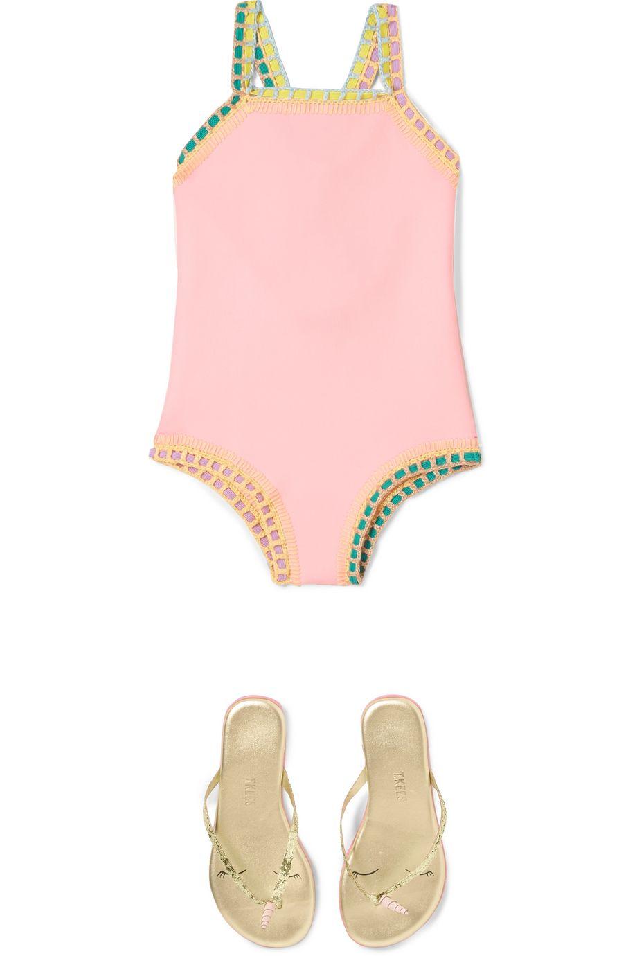 Kiini Kids Bea crochet-trimmed swimsuit