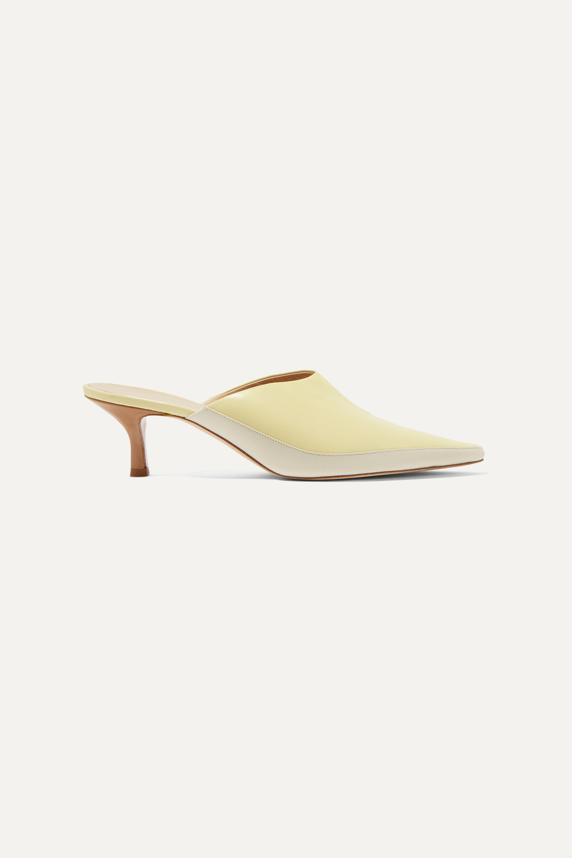 Wandler Bente two-tone leather mules