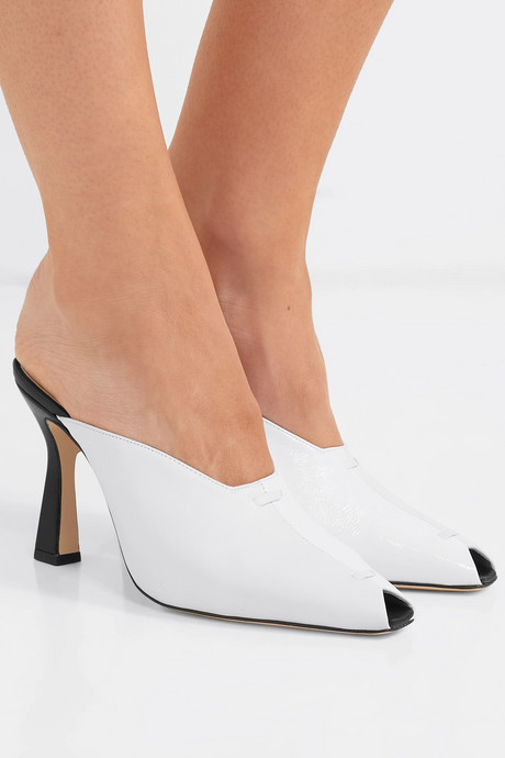 Niva two-tone leather mules