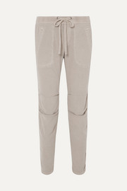 James Perse Cotton-blend twill track pants