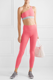 Rise logo-embroidered stretch leggings