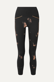 Lucas Hugh Racer mesh-paneled printed stretch leggings