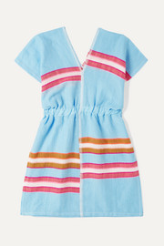 Eskedar striped cotton-blend gauze dress