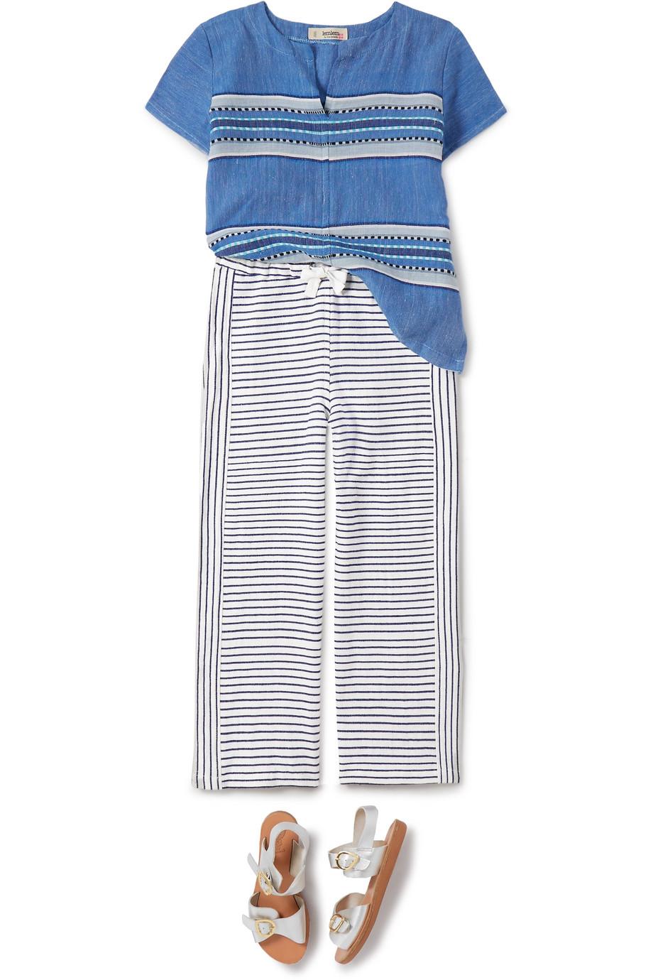 LemLem Kids Welela striped cotton-blend gauze pants