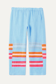 Eskedar striped cotton-blend gauze pants