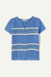 LemLem Kids Welela striped cotton-blend gauze top