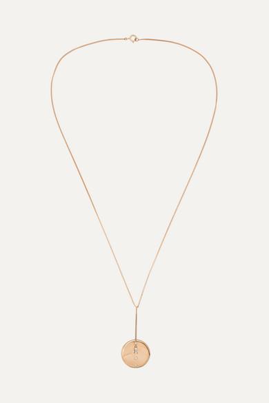 WWAKE | Wwake - 14-Karat Gold, Opal And Diamond Necklace - One Size | Goxip