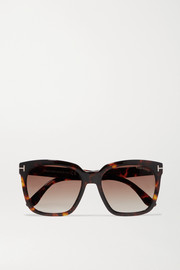 TOM FORD Amarra square-frame tortoiseshell acetate sunglasses