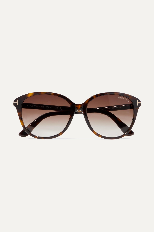 TOM FORD Cat-eye tortoiseshell acetate sunglasses