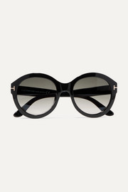 Kelly round-frame acetate sunglasses