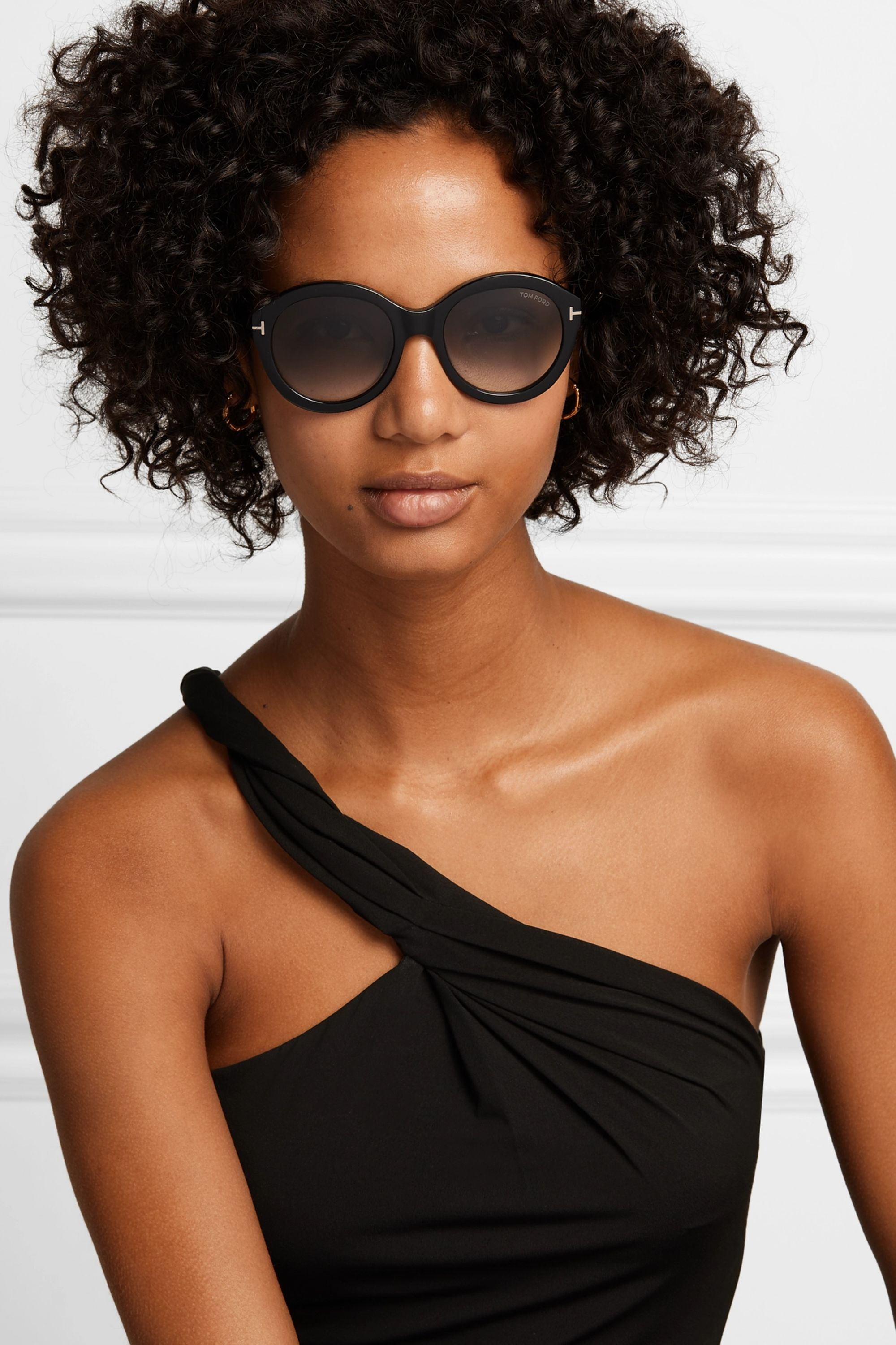 TOM FORD Kelly round-frame acetate sunglasses