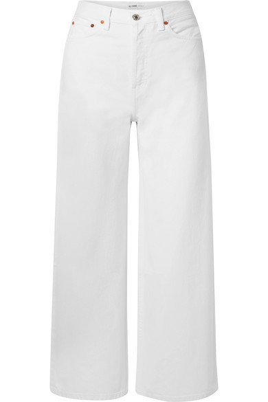 Re/done Jeans 60S EXTREME CROPPED HIGH-RISE WIDE-LEG JEANS