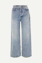 RE/DONE 60s Extreme cropped high-rise wide-leg jeans