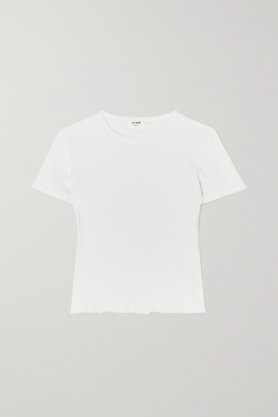 RE/DONE 90s ribbed cotton-jersey T-shirt